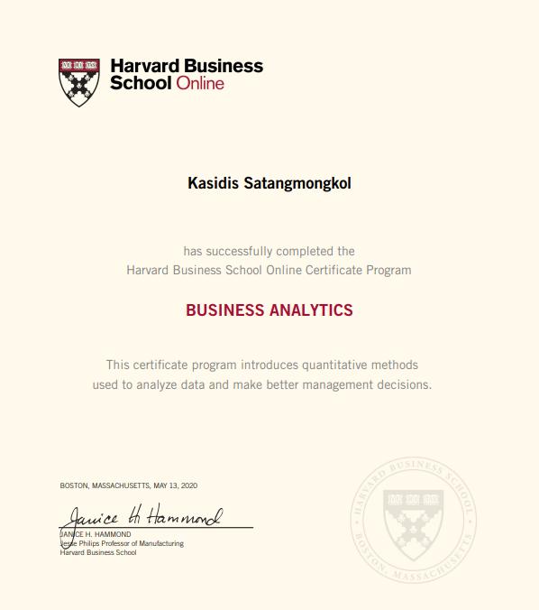 Harvard Business Online Certificate