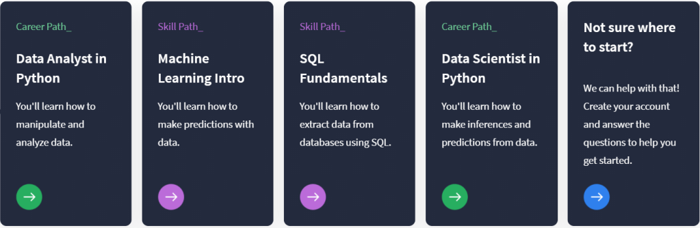 career path on dataquest