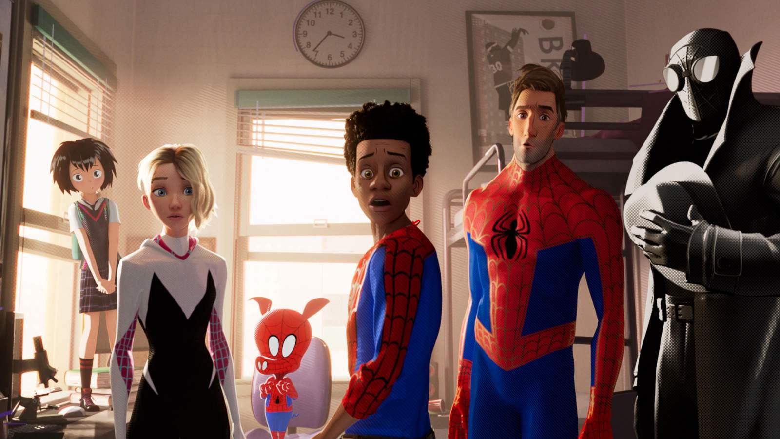 Image result for spider verse scene